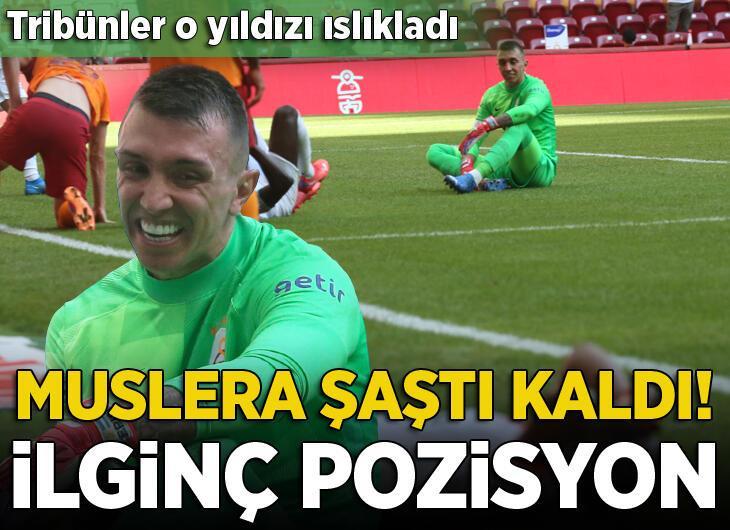 Türk Telekom Stadı'nda nefesleri kesen an! Muslera böyle tepki verdi