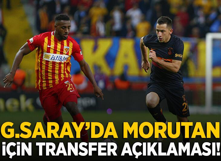 Galatasaray'da flaş Morutan gelişmesi!