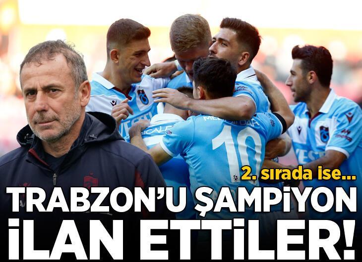 Trabzonspor'u şampiyon ilan ettiler
