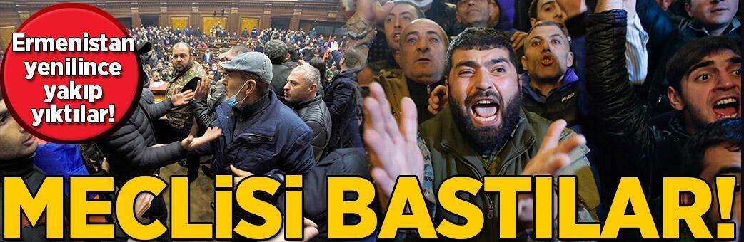 Diz çöken Ermenistan'da isyan! Meclis'i bastılar