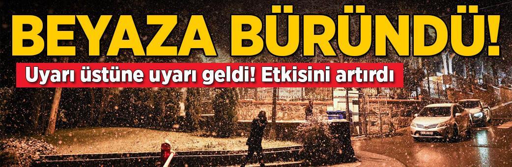 Son dakika! İstanbul'da beklenen kar yağışı başladı
