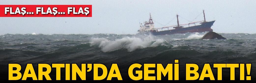 Bartın açıklarında gemi battı! Vali'den açıklama