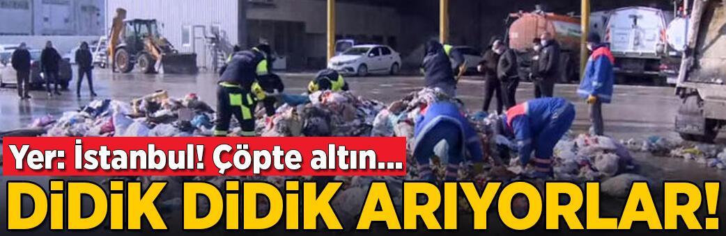 Son dakika... İstanbul'da çöpte altın alarmı! Didik didik arıyorlar