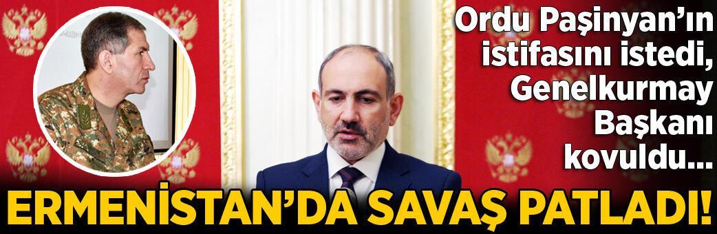 Son dakika... Ermenistan'da deprem! Ordu Paşinyan'ın istifasını istedi