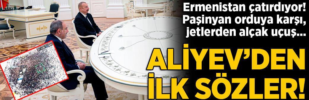 Son dakika... Aliyev'den ilk sözler! Ermenistan'da 'İskender' darbesi...