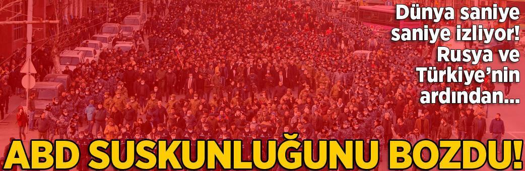 Son dakika haberler... ABD devreye girdi! Dünya Ermenistan'ı izliyor