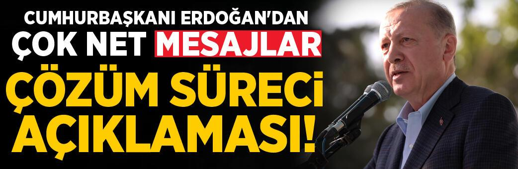 Erdoğan'dan flaş çözüm süreci açıklaması