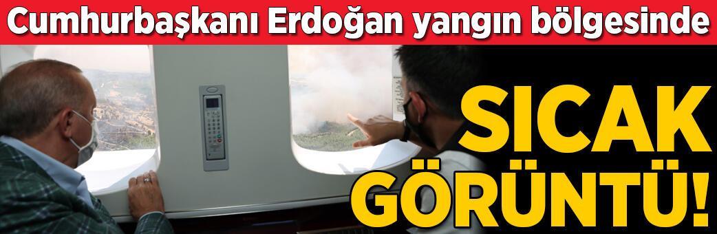 Sıcak görüntü! Erdoğan bölgede inceleme yaptı