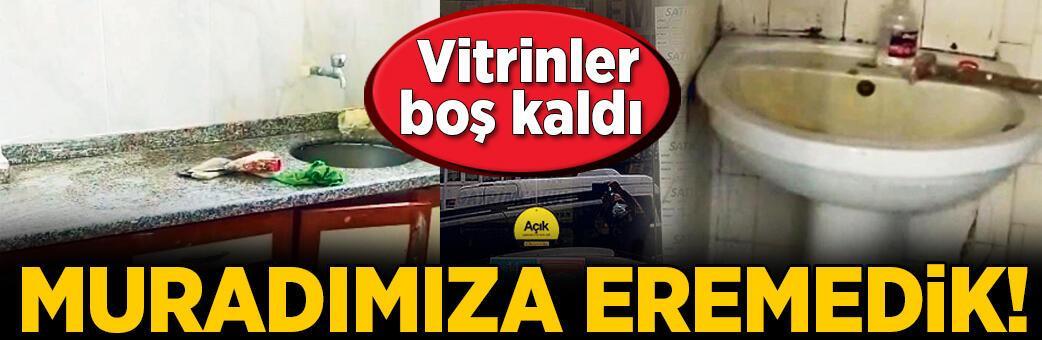 'Ev'lenemedik! İstanbul'da vitrinler boş kaldı