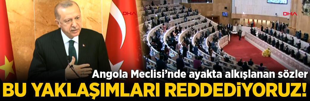 Angola Meclisi'nde ayakta alkışlanan sözler