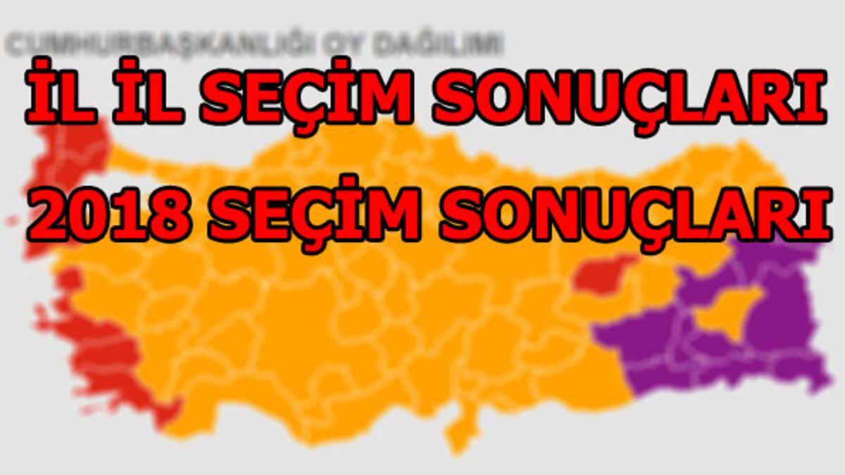 2018 seçim sonuçları! İl il cumhurbaşkanlığı milletvekilliği seçim sonuçları  - Haberler Milliyet