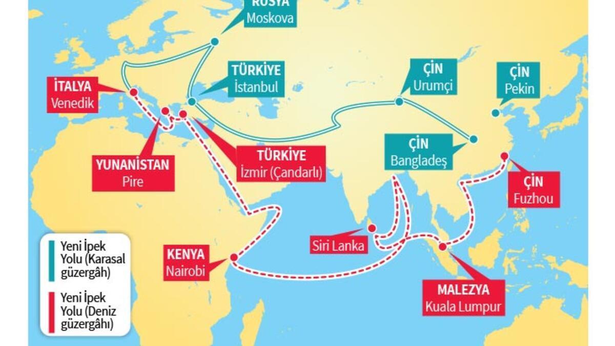 Demir İpek Yolu'ndan ilk tren Türkiye'de - Son Haberler - Milliyet
