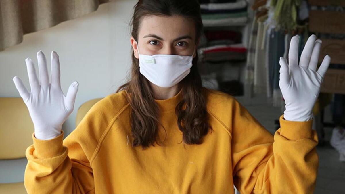 Antibakteriyel kumaştan maske üretti! Siparişlere yetişemiyor ...