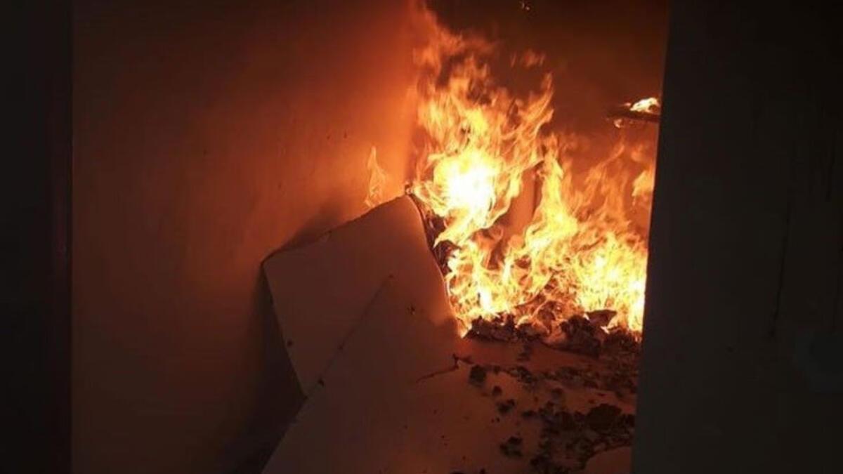 Metruk evde korkutan yangın!