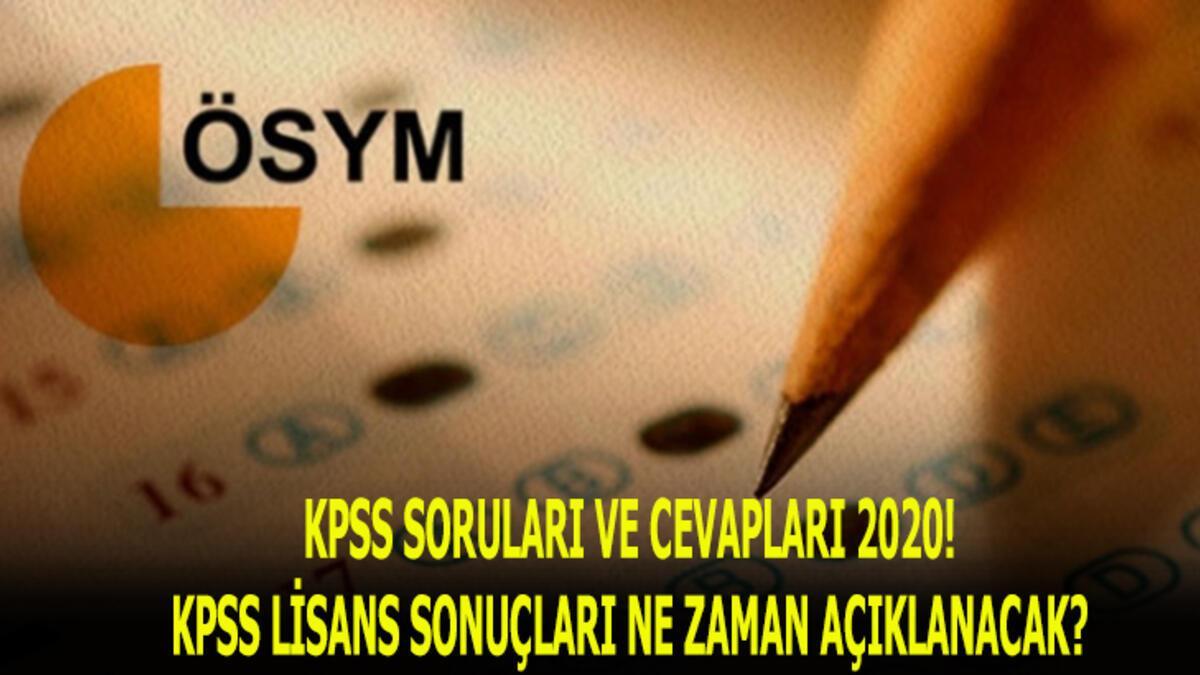 KPSS soruları ve cevapları 2020! KPSS lisans sonuçları ne zaman açıklanacak?