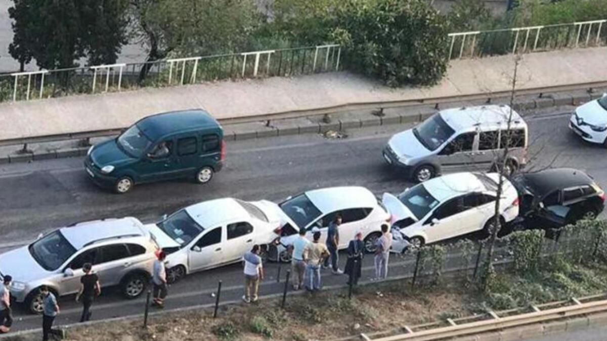 Bursa'da inanılmaz zincirleme kaza!
