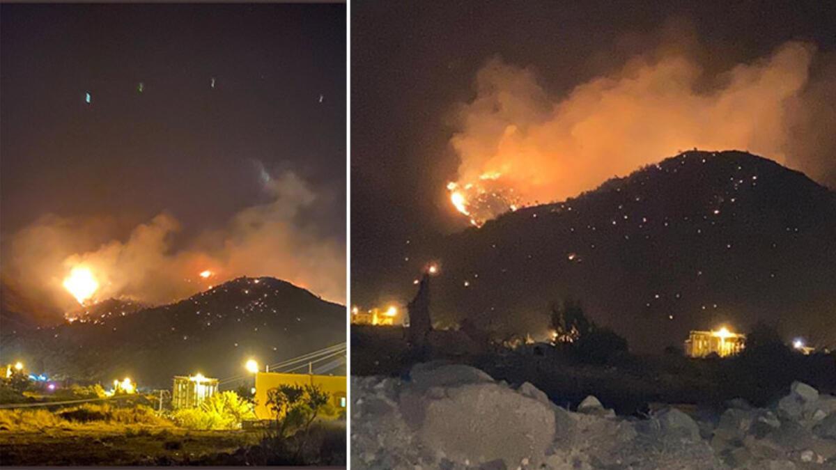 Dağlık alanda büyük yangın... Kül oldu!