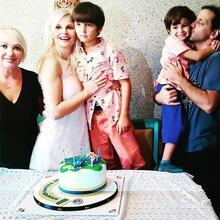 Oğullarının doğum gününde buluştular