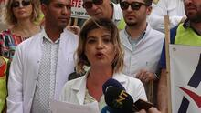 Giresun'da açığa alınan doktora destek eylemi