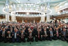 Son dakika: Cumhurbaşkanı Erdoğan Millet Camii'nde Kur'an okudu
