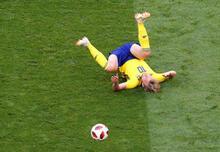 İsveç - İngiltere maçından kareler!