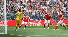 Rusya-Suudi Arabistan maçından kareler