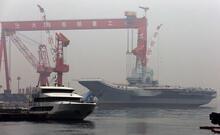 Çin'in ilk yerli uçak gemisinin seyir testi başladı