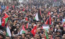 Şanlıurfa'da, Kudüs'e destek mitingi