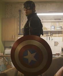 'Kaptan Amerika' tanınmaz halde!