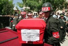 Şehit binbaşıyı 5 bin kişi uğurladı