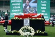 Bursaspor başkanı İbrahim Yazıcı'nın cenaze töreni