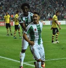Atiker Konyaspor - Guimaraes maçından kareler