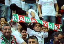 Karşıyaka taraftarlarından Galatasaray maçında olay pankart