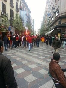 Galatasaray taraftarına Madrid'de polis müdahalesi