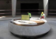 Süleyman Demirel'in anıt mezarı bitme aşamasında
