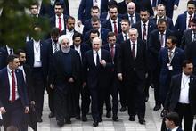 Erdoğan, Putin ve Ruhani'den ortak açıklama