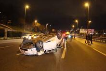 Ehliyetini yeni alan sürücü kaza yaptı