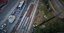 Eminönü Alibeyköy tramvay hattının rayları yerleştiriliyor