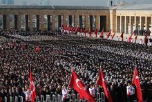 Devlet erkanı Anıtkabir'i ziyaret etti! Cumhurbaşkanı Erdoğan'dan ilk mesaj