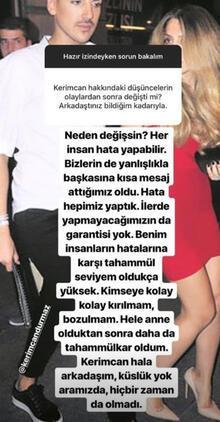 Yağmur Sarıoğlu'ndan Kerimcan Durmaz açıklaması