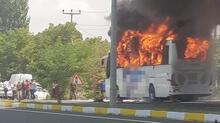 Yolcu otobüsünde çıkan yangında çok sayıda ölü ve yaralı var