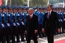 Cumhurbaşkanı Erdoğan, Sırbistan'da resmi törenle karşılandı