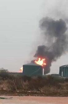 Süt fabrikasında büyük yangın!