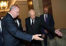 TBMM'de sürpriz görüşme! Cumhurbaşkanı Erdoğan ile Bahçeli bir araya geldi