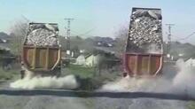 Tuzla'da kaçak döküm dehşeti! Kovalamaca kamerada...