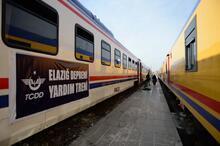 TCDD'nin yardım treni Elazığ'a ulaştı!