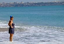 Şubat ayında 21 dereceyi gören vatandaşlar sahile koştu!