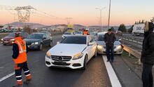 Tuzla TEM Otoyolu'nda zincirleme kaza trafiğe neden oldu