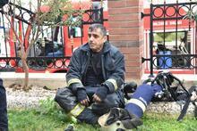 Antalya'da, rezidansta yangın