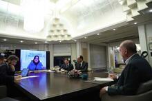 Cumhurbaşkanı Erdoğan bakanlarla telekonferansla toplantı yaptı
